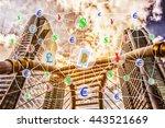 coded or digital money concept... | Shutterstock . vector #443521669