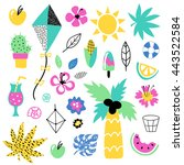 summer vector elements... | Shutterstock .eps vector #443522584