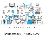 finance team on white... | Shutterstock .eps vector #443524699