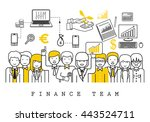 finance team on white... | Shutterstock .eps vector #443524711