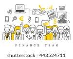finance team on white... | Shutterstock .eps vector #443524711