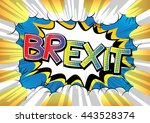 Brexit   Comic Book Style Word