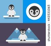 animals. a set of three... | Shutterstock .eps vector #443531065