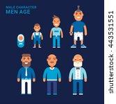 men age. different generations... | Shutterstock .eps vector #443531551