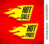 hot sale and hot price labels... | Shutterstock .eps vector #443535094