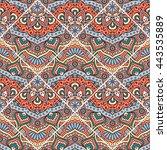 seamless pattern. vintage...   Shutterstock . vector #443535889
