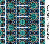 seamless pattern. vintage... | Shutterstock . vector #443535997