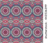seamless pattern. vintage... | Shutterstock . vector #443536399