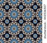 seamless pattern. vintage... | Shutterstock . vector #443536507