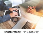 medical technology network team ... | Shutterstock . vector #443536849