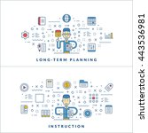 long term planning. instruction.... | Shutterstock .eps vector #443536981