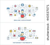 online assistant. internet... | Shutterstock .eps vector #443537071