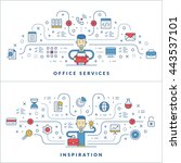 office services. inspiration.... | Shutterstock .eps vector #443537101
