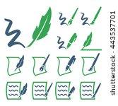 write icon set | Shutterstock .eps vector #443537701