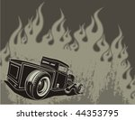 Rat Rod On A Background With...