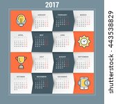 calendar for 2017 year. vector... | Shutterstock .eps vector #443538829