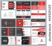 business card templates.... | Shutterstock .eps vector #443539105