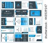 set of modern creative business ... | Shutterstock .eps vector #443539147