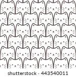 white cats. seamless cartoon... | Shutterstock .eps vector #443540011