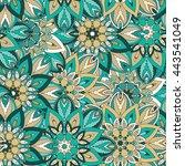 seamless pattern. vintage... | Shutterstock .eps vector #443541049