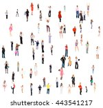 many colleagues people... | Shutterstock . vector #443541217