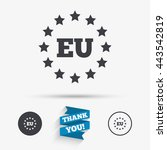 european union icon. eu stars... | Shutterstock .eps vector #443542819