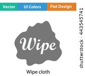 wipe cloth icon. flat color...