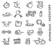 modern thin line icons set of... | Shutterstock .eps vector #443547499