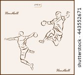 set of a vector illustration... | Shutterstock .eps vector #443552671