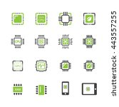computer chips icons vector | Shutterstock .eps vector #443557255