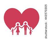 family love icon   Shutterstock .eps vector #443570305