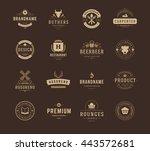 vintage logos design templates... | Shutterstock .eps vector #443572681
