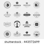 vintage logos design templates... | Shutterstock .eps vector #443572699