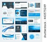 set of modern creative business ... | Shutterstock .eps vector #443575249