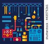 vector industrial background.... | Shutterstock .eps vector #443575261