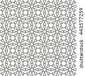 islamic pattern  abstract... | Shutterstock .eps vector #443577259