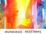 macro wash watercolor... | Shutterstock . vector #443578441