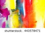 macro wash watercolor... | Shutterstock . vector #443578471