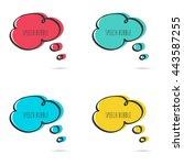 set hand drawn speech bubble.... | Shutterstock .eps vector #443587255
