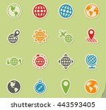 globes web icons for user... | Shutterstock .eps vector #443593405
