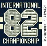 varsity sport typography  t... | Shutterstock .eps vector #443596804