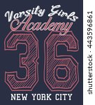 new york city varsity girls... | Shutterstock .eps vector #443596861