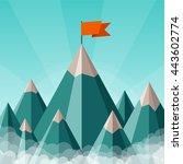 vector success or leadership... | Shutterstock .eps vector #443602774