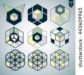 3d logo set | Shutterstock .eps vector #443609965