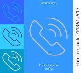 web icon. call | Shutterstock .eps vector #443615917