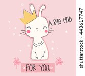 Cute Bunny Illustration For...