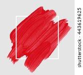 art abstract background brush... | Shutterstock .eps vector #443619625