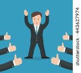 successful businessman... | Shutterstock .eps vector #443627974