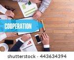 business team working office...   Shutterstock . vector #443634394