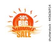 big summer sale template banner | Shutterstock .eps vector #443636914
